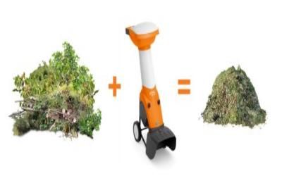 kompostiranje-stihl vrtna sječkalica